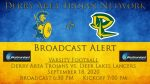 Broadcast Alert: 9/18/20 – Football vs. Deer Lakes