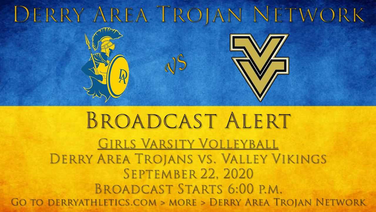 Broadcast Alert: 9/22 Girls Volleyball vs. Valley Broadcast