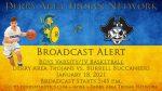 Broadcast Alert: January 18, 2021 Boys Basketball vs. Burrell