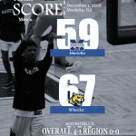 Boys Varsity Basketball falls to Wheeler 67 – 59