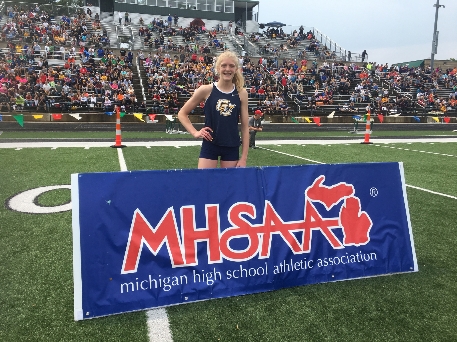 Lexi Bargesser wins two state titles