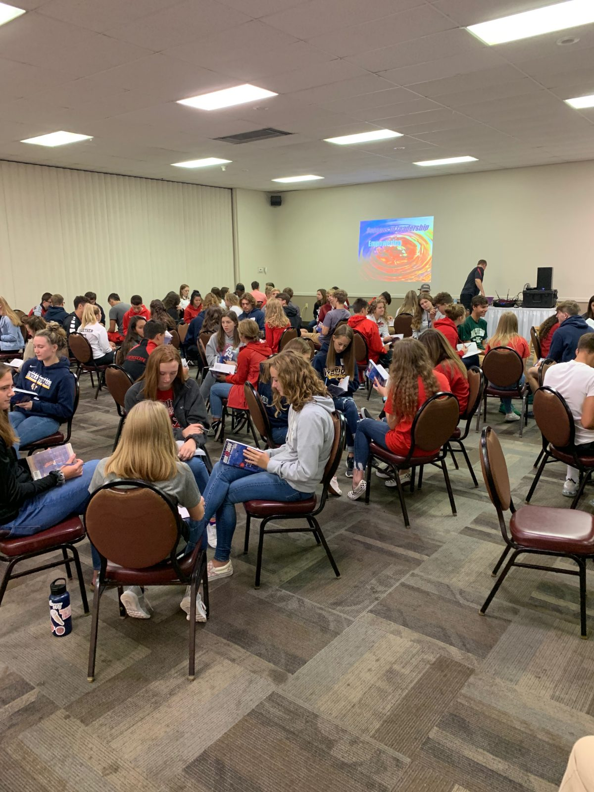 Grass Lake Athletes Attend Leadership Conference