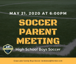 Parent Meeting Boys Varsity Soccer