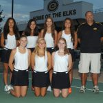 Girls's Varsity Gold Tennis Defeats Troy