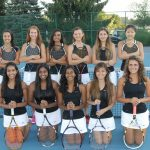 Tennis Teams Split Their Matches