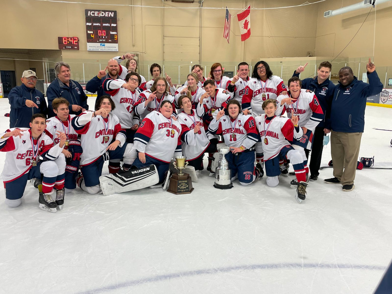Brown Helps Lead Centennial To JV Hockey Title