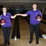 Swanton Bowlers Sweep Wauseon.  Amy Lawson rolled a 187/199=386 to lead the Lady Bulldogs over the Lady Indians 1985-1876.  Derek Floyd bowled a 175/201=376 as the Bulldog boys topped Wauseon 2251-2169.