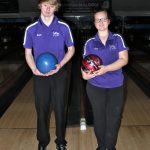 The Bowling Bulldogs split with Evergreen with the girls winning 2074-1658 and the boys losing 2123-1997.  Devon Crouse led the boys with a 163/179=342 series.  Amy Lawson led the girls with a 197/189=386 series.  Amy finished the week with a four-game average of 215.5.