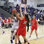 Ashlynn Waddell goes in for two after a rebound in a tough 41-33 loss to Wauseon.