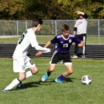 Swanton Freshman Hayden Callicotte scored two goals to lead the Bulldogs past the Delta Panthers 4-2 to win the DIII Sectional Championship at Krupitzer Field.