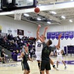 Andrew Thornton torched Evergreen for 25 points as the Bulldogs opened their home schedule with 50-40 victory over the Vikings in a non-league game.