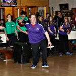 Riley Blankenship bowled a 195/223=418 series but the Bulldogs lost a close match to the Delta Panthers 2133-2098.
