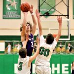 Josh Vance shoots from long range in Swanton's 52-37 road victory over the Delta Panthers.