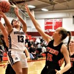 Down by 15 points, Arika Lutz led the Lady Bulldogs on a 14-0 run to pull within one but the Otsego Lady Knights were able to pull away at the end to beat Swanton 52-33 in the Sectional final