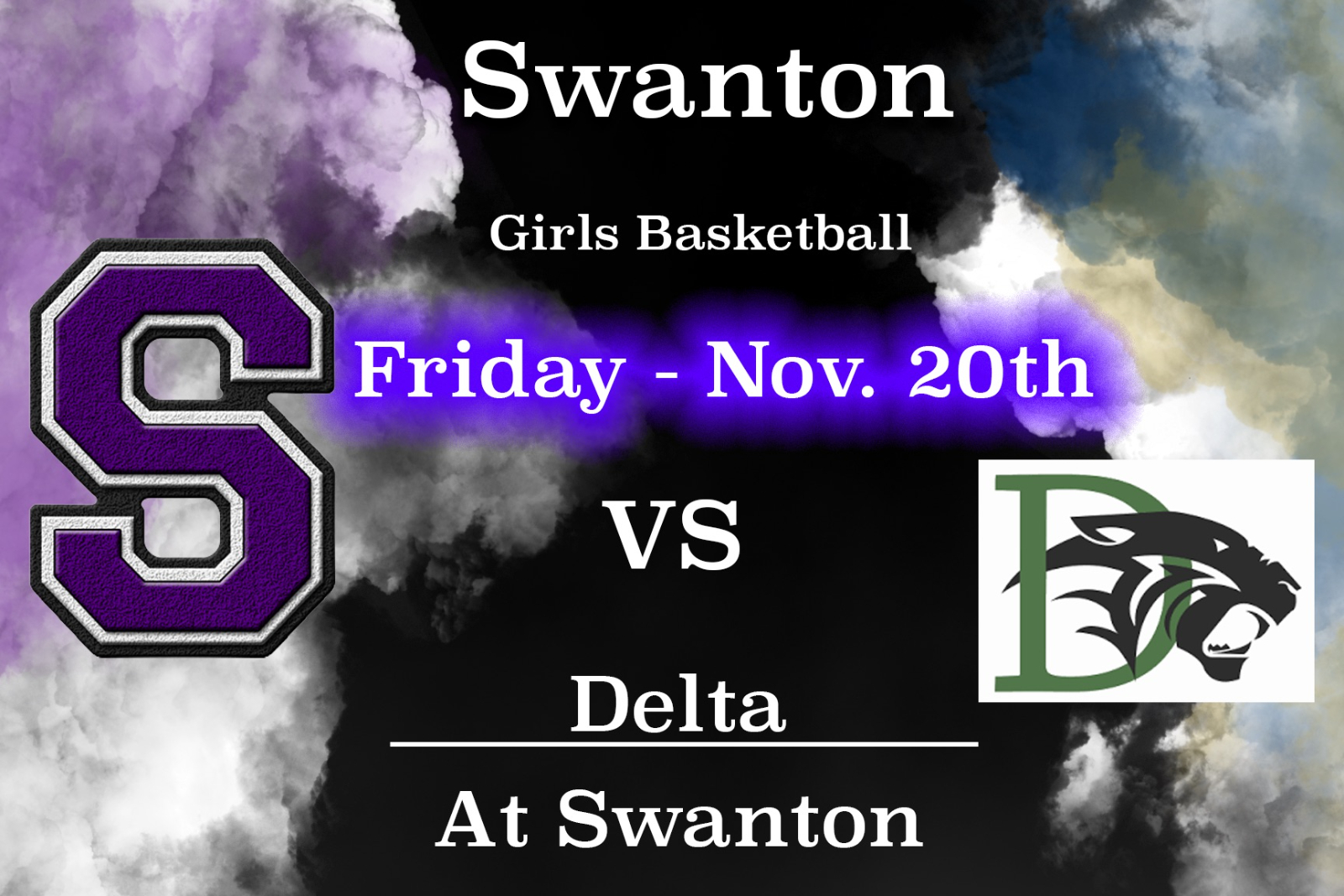 Girlś Varsity Basketball 630pm – 11/20