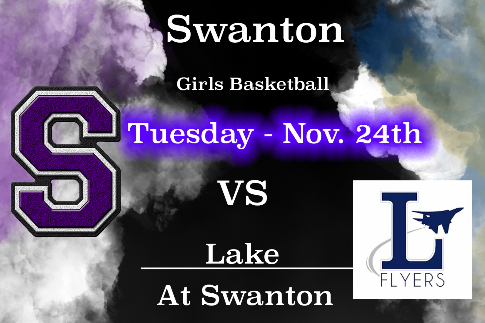 Varsity Girlś Basketball 630pm – Tuesday 11/24/20