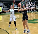 Frankie Nelson knocked down three shots from behind the arc and scored 11 points but the Lady Bulldogs ran into a hot-shooting Delta team and lost to the Lady Panthers 49-33.  Aricka Lutz had 10 points and Averie Lutz added seven for Swanton.