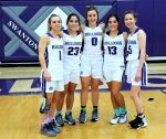 These five senior Swanton Lady Bulldog basketball players took the floor for the tip-off of their final regular season home game of their careers and later walked off the court with an easy 55-24 win over the Otsego Lady Knights.  They will all be truly missed. Attachments area