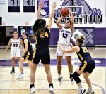 The Swanton Lady Bulldogs stormed back from a second-quarter 18 point deficit to pull within two points in the fourth quarter but fell short in losing to the Archbold Lady Blue Streaks 47-40.  In the final regular season game, the Lutz twins scored 35 of Swanton's 40 points with Aricka hitting for 20 and Averie for 15.