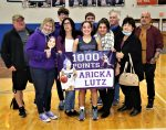 Congratulations to Aricka Lutz on scoring her 1000th career point for the Lady Bulldog basketball team during tonight's district game against Elmwood.  Her twin sister Averie was not far behind with 950 points.