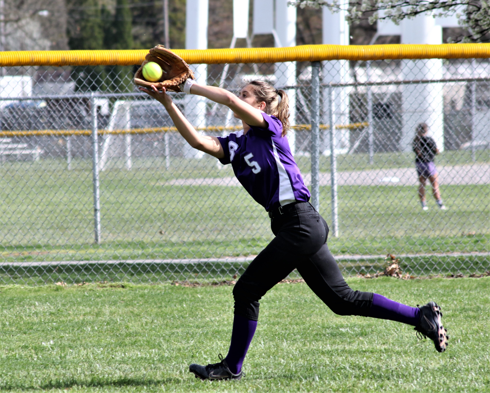 Rheannah Kesler's glove and bat helped lead the Lady Bulldogs Junior Varsity softball team to a 16-1 home victory over the Toledo Waite Lady Indians.