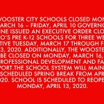 All Wooster City School District Athletics Canceled Until Monday, April 6