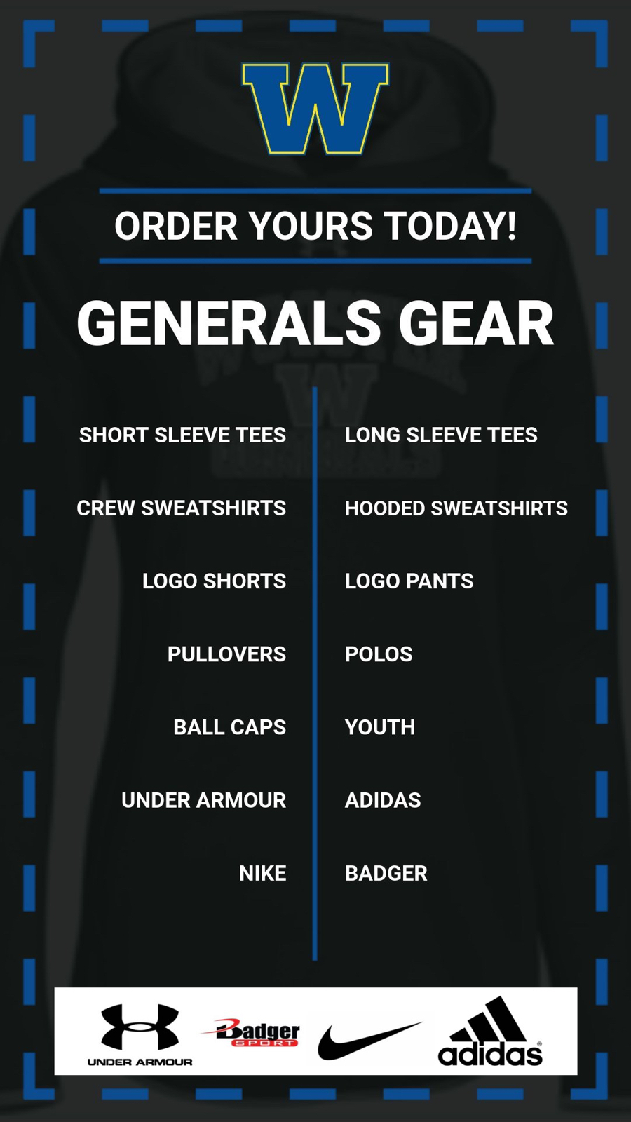 Generals Gear- Order Yours Today!