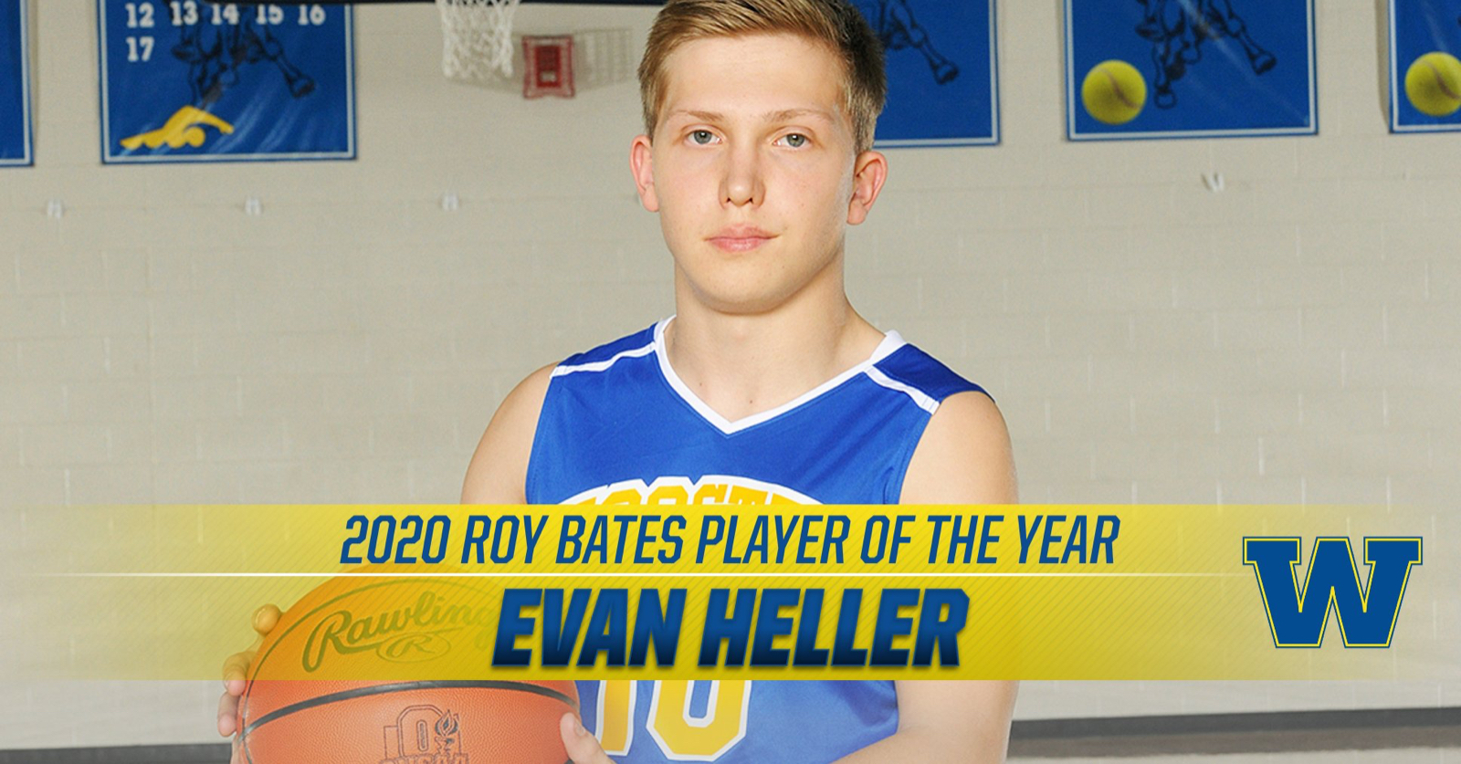 Evan Heller Named Roy S. Bates Foundation Player of the Year