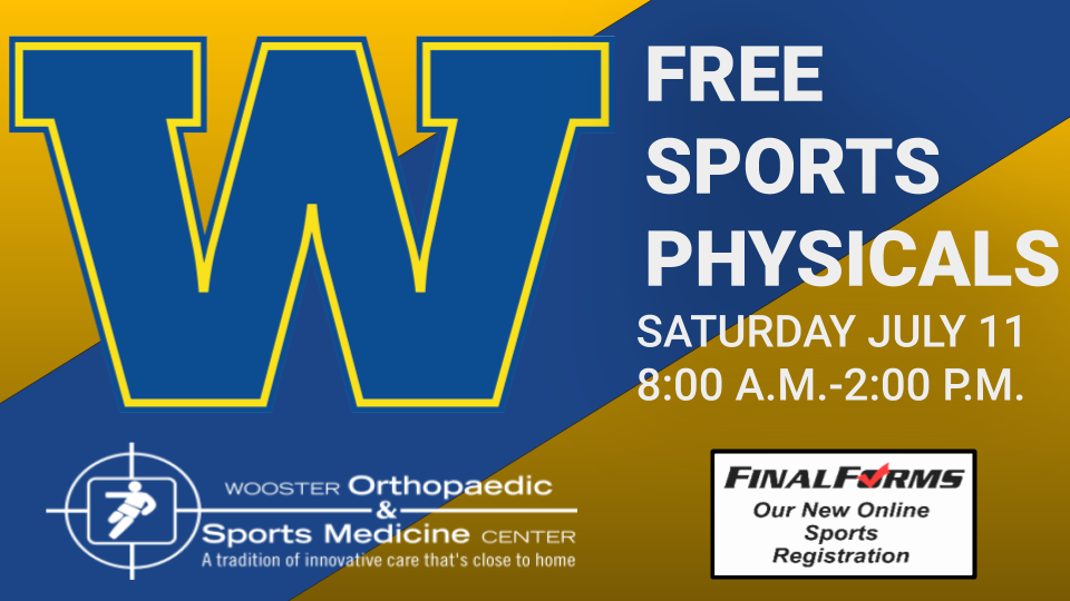 FREE SPORTS PHYSICALS DATE JULY 11