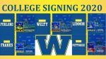 FIVE GENERALS SIGN TO PLAY IN THE NCAA