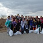 Annual Cliff Cave Clean-up by the Girls Swim Team