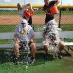 Softball takes the ALS Ice Bucket Challenge