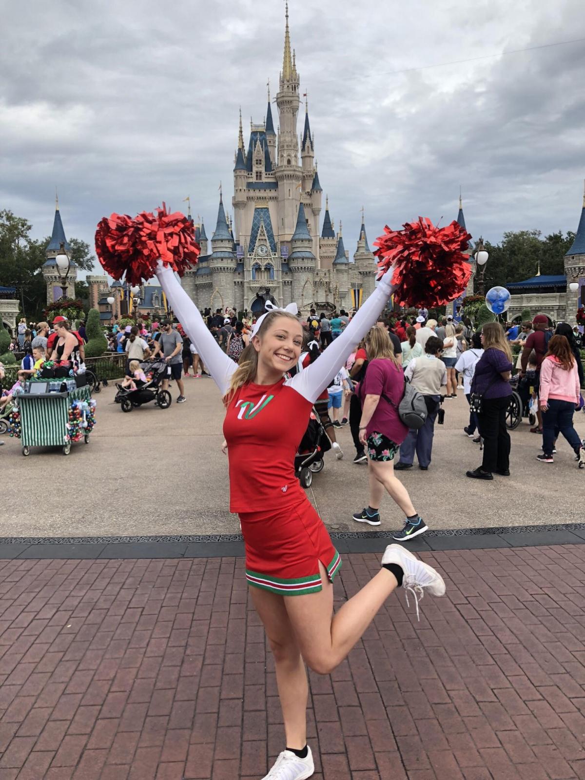 Kara Nienhaus Shines in Disney Christmas Spectacular Parade