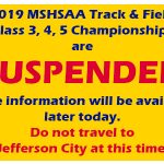 MSHSAA State Track Meet Suspended Due to Tornado Damage
