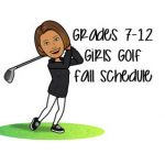 Girls Golf Fall Schedule