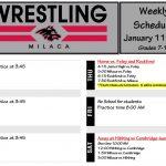 Wrestling: Week of January 11 Schedule
