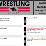 Wrestling: Schedule week of January 25