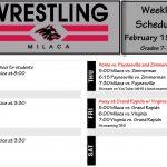 Wrestling Schedule: Week of February 15