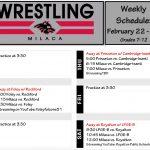 Wrestling: Schedule week of February 22