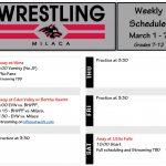 Wrestling Schedule: Week of March 1