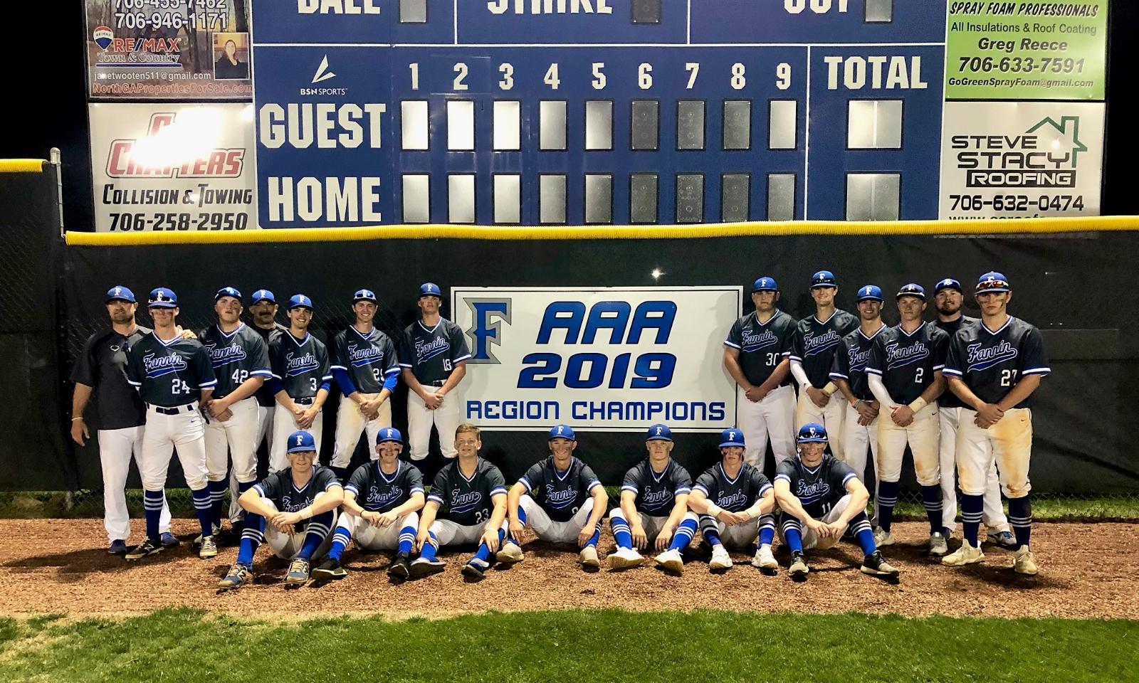 FCHS Varsity Baseball – 7AAA Region Champions