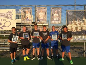 HSE Boys Tennis:  Senior Night vs. Heritage Christian