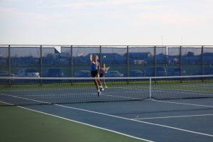 HSE Lady Royals Tennis:  Zionsville Match (4-12-17)
