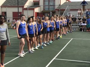HSE Lady Royals Tennis vs. North Central (4-17-17)