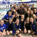 Girls Varsity Swimming finishes 1st place at IHSAA Swim Sectionals @ Hamilton Southeastern High School
