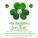 Baseball Team to host 2nd Annual Game Night!