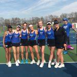 HSE Girls Varsity Tennis defeats Noblesville 5 – 0