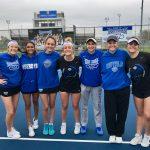 #14 HSE Girls Varsity Tennis beats #17 Franklin Central 5 – 0