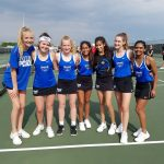 Girls Freshman Tennis Team beats North Central 4-1