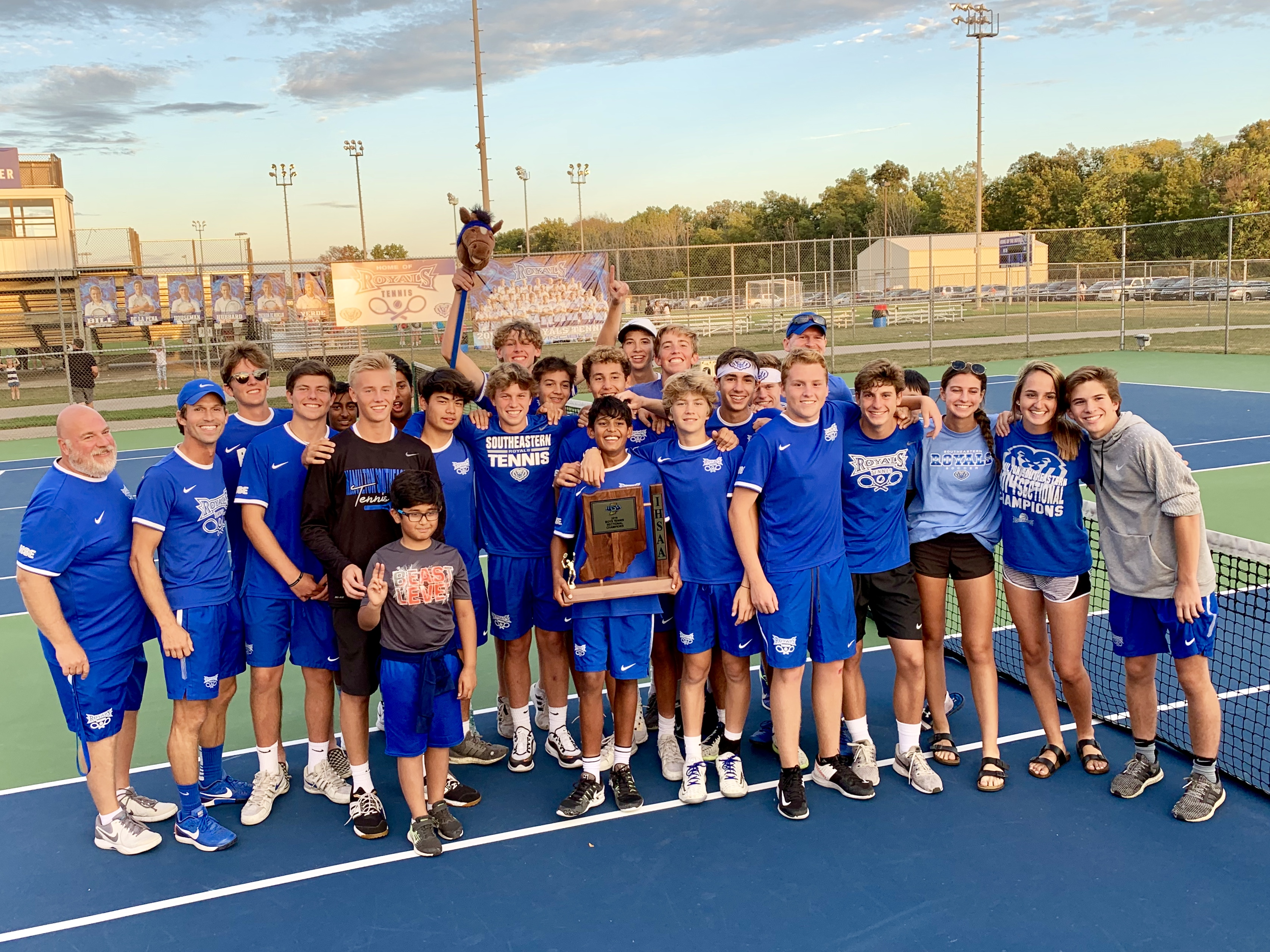 HSE Boys Tennis defeats Fishers 3 – 2 to Win Sectional Championship!